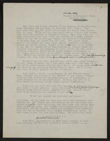"Writings, ""Railford Florida Penitentiary,"" John A. Lomax and Alan Lomax papers"