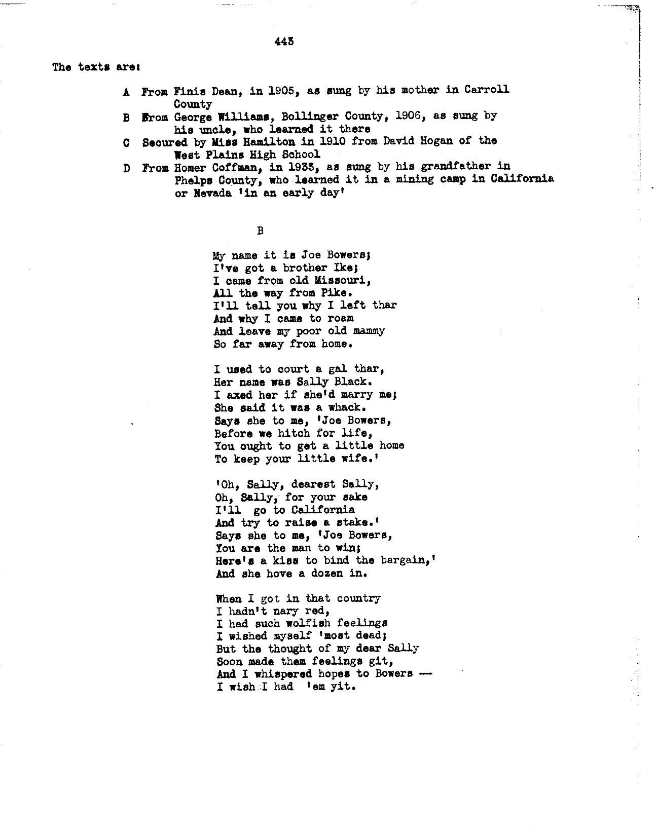 Image 2 of Gold Rush songs [textual transcriptions and notes