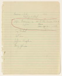 Alan Lomax Collection, Manuscripts, New York City, 1952