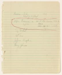 Alan Lomax Collection, Manuscripts, New York City, 1952