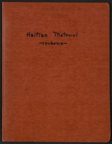 Alan Lomax Collection, Manuscripts, Haiti, 1936-1937