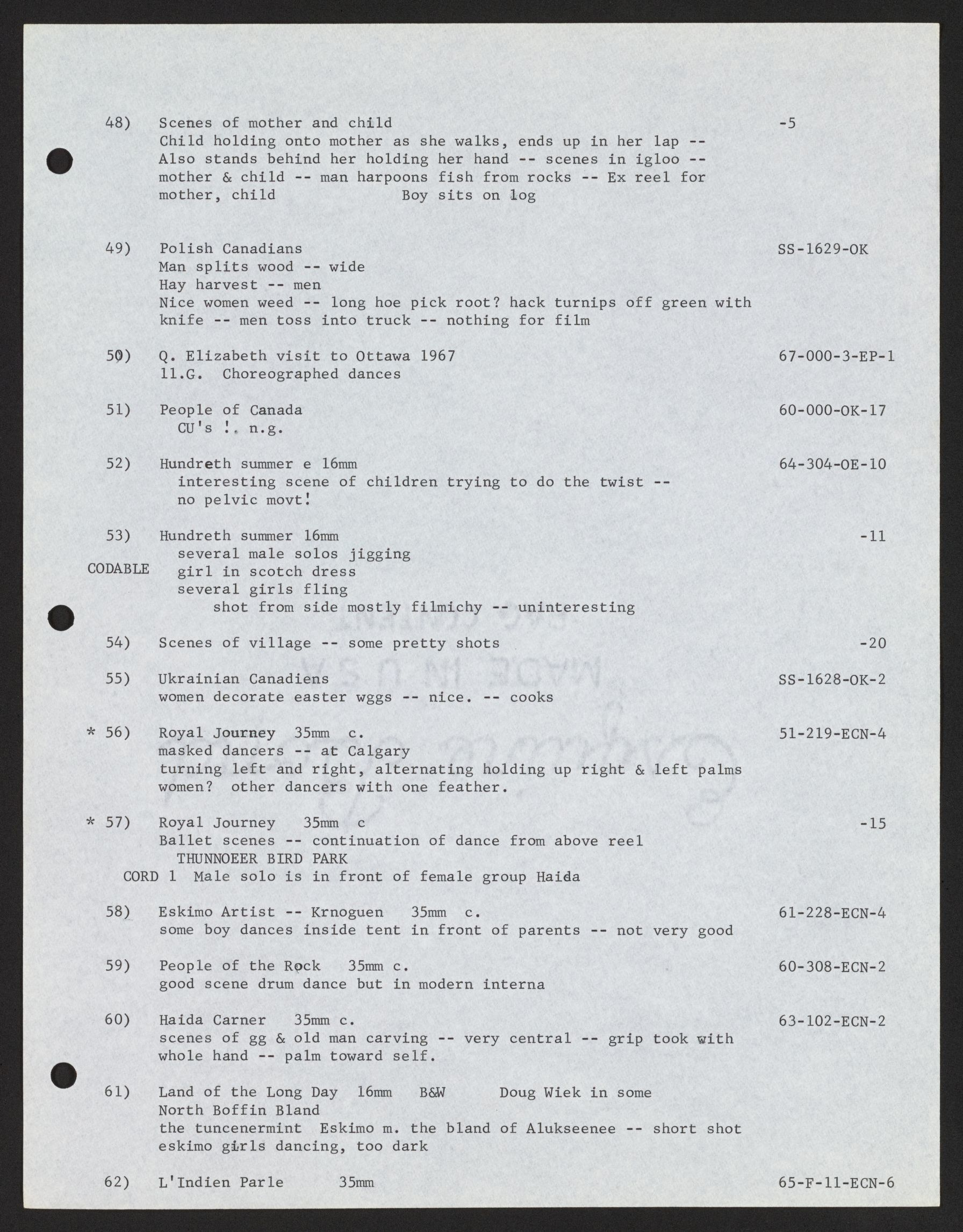 20cf44c8 Manuscript/Mixed Material, Alan Lomax Collection, Manuscripts, Performance  style, Choreometrics, sources, Correspondence and notes by culture, ...