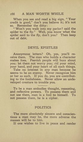 Selected Digitized Books, Available Online, 1900/1999, A Man Worth