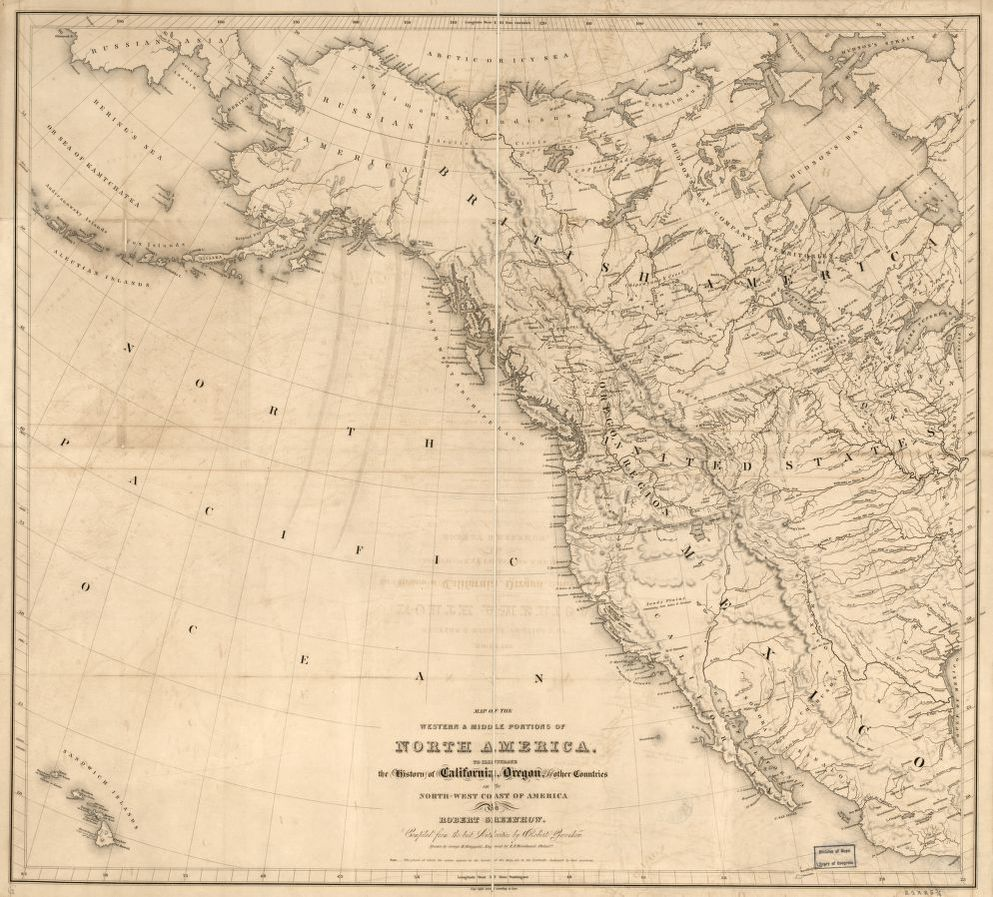 Map of the western & middle portions of North America : to ... Illustrate Map on