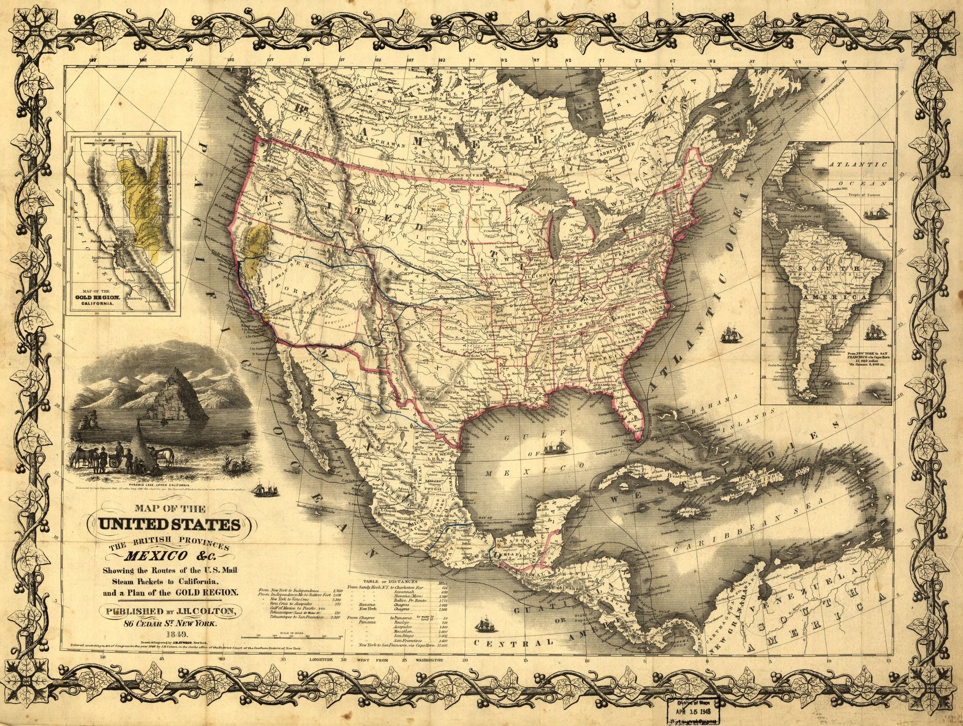 map of the united states the british provinces mexico c library of congress