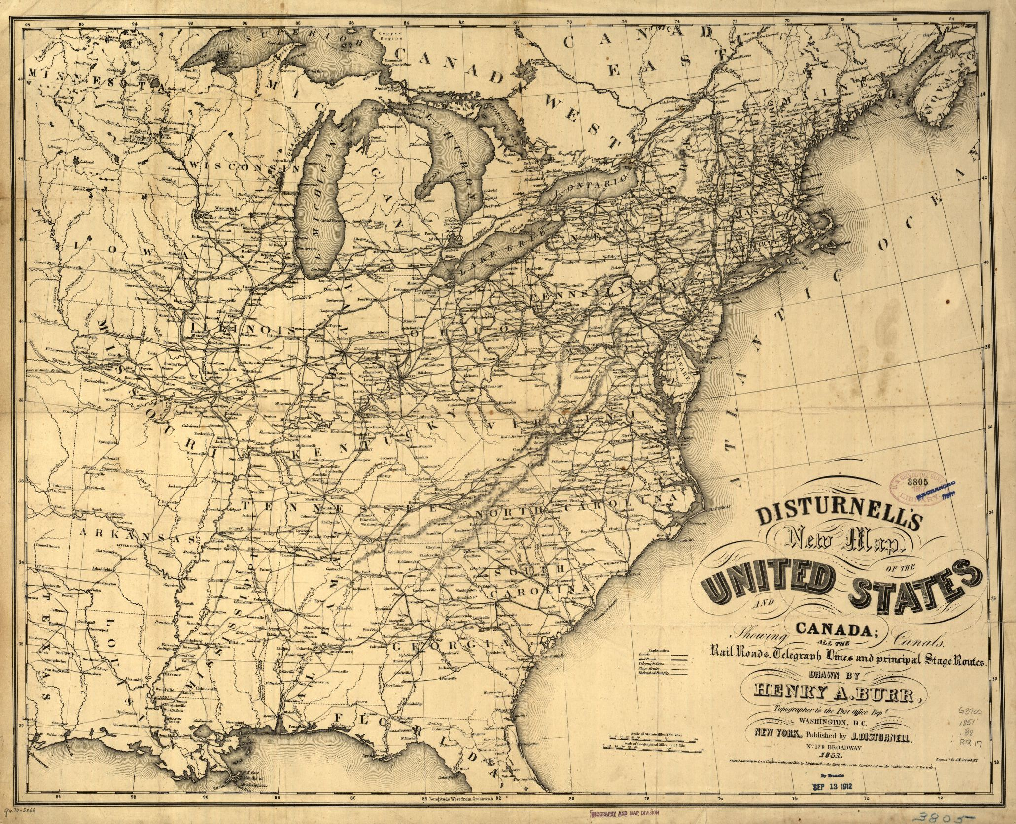 Railroad Maps 1828 To 1900 Library Of Congress - Railroad-us-map