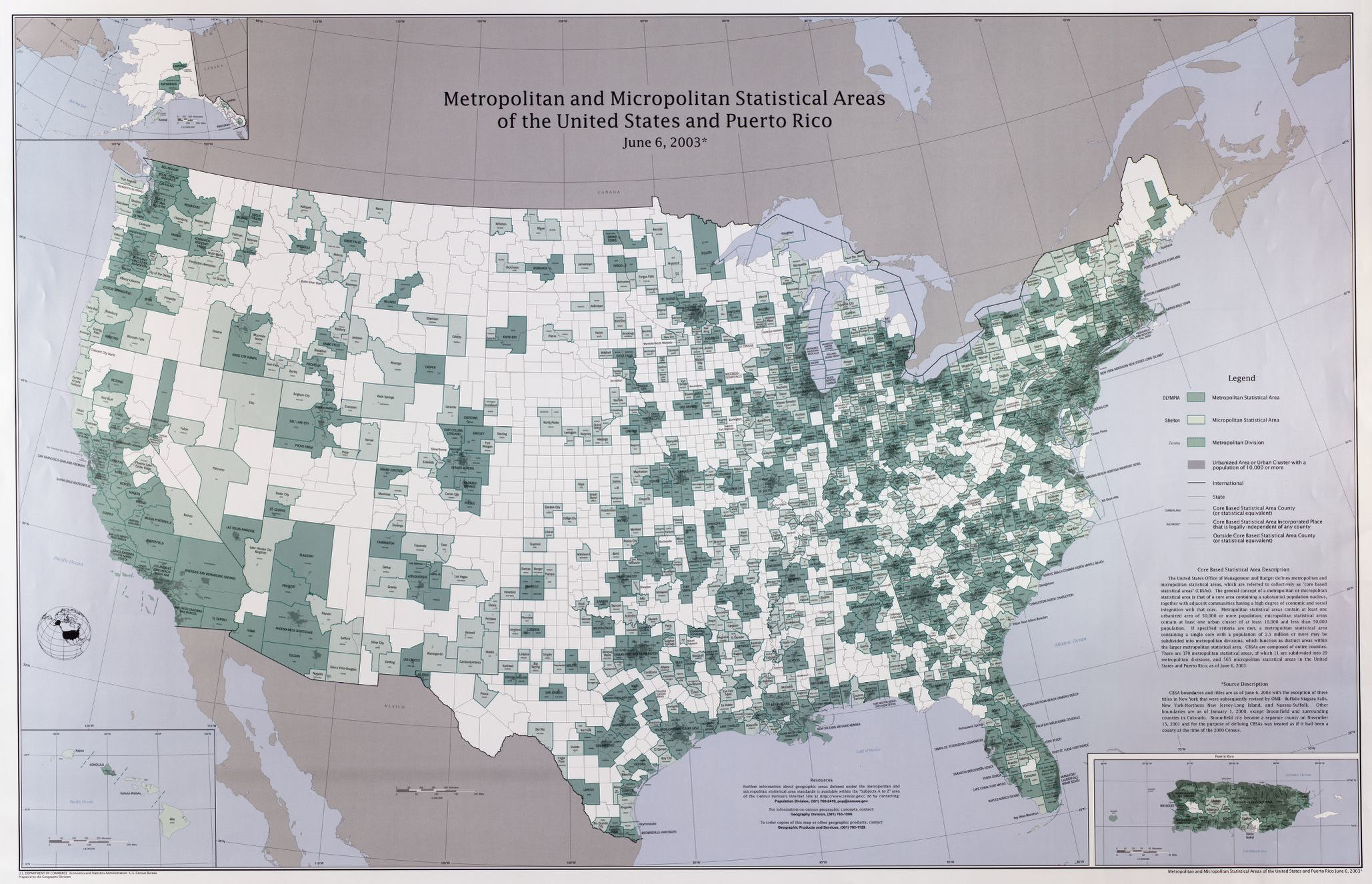 Metropolitan and micropolitan statistical areas of the ...