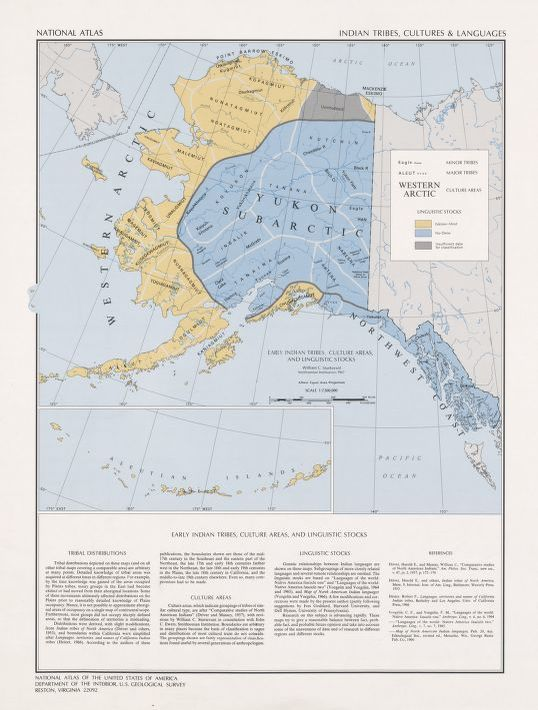 National atlas. Indian tribes, cultures & languages : [United States ...