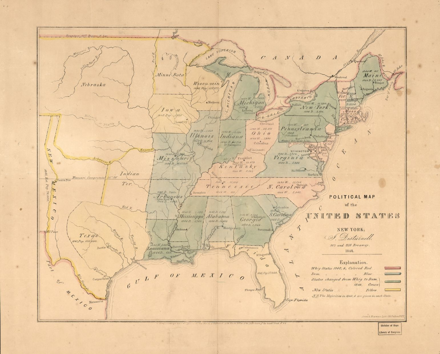 Picture of: Political Map Of The United States Library Of Congress