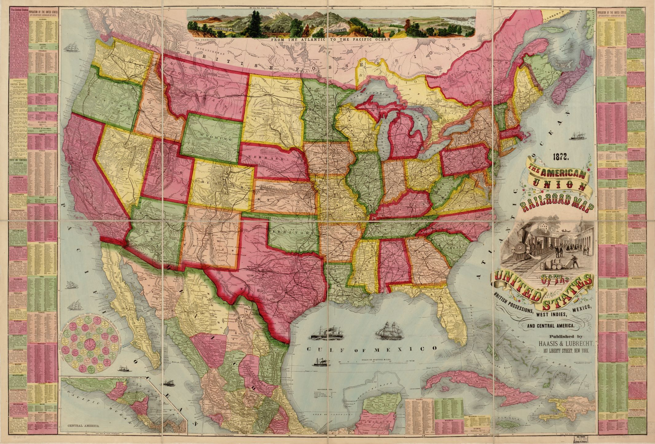 The American Union railroad map of the United States ...