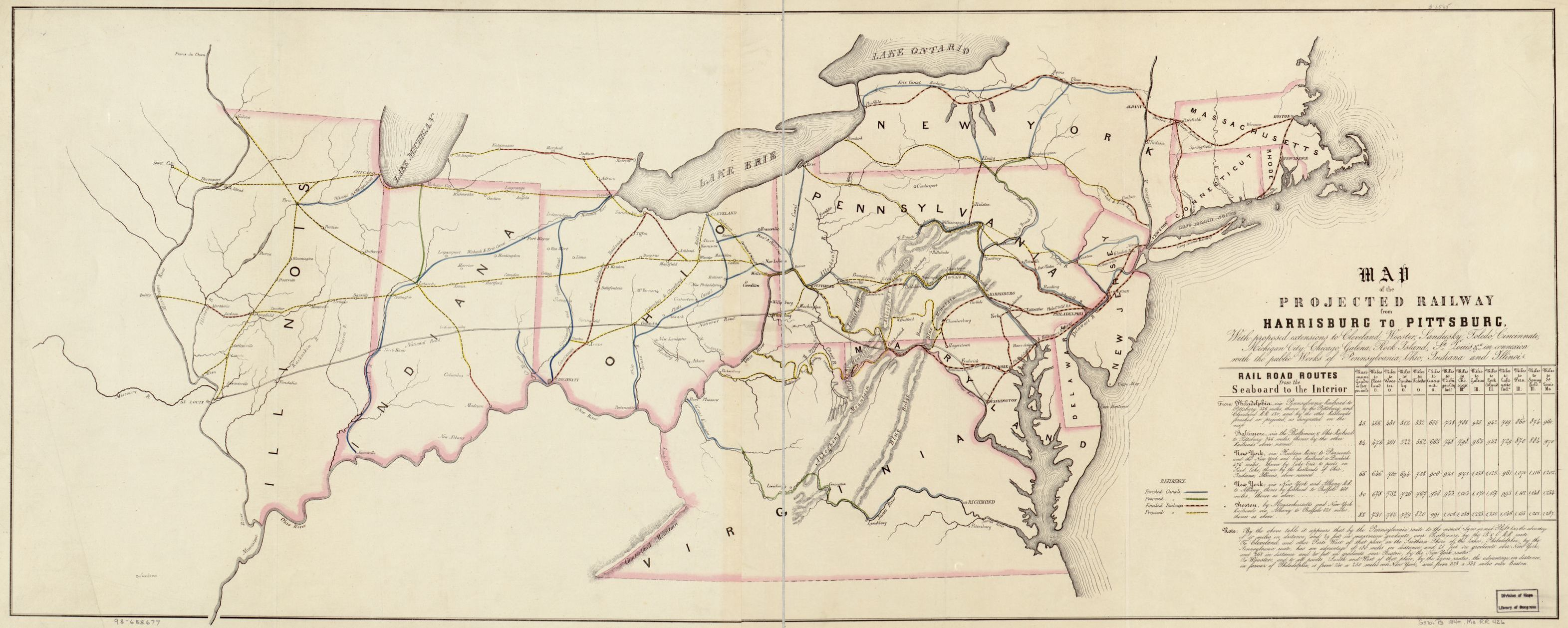 Railroad Maps, 1828 to 1900, Available Online | Library of ...