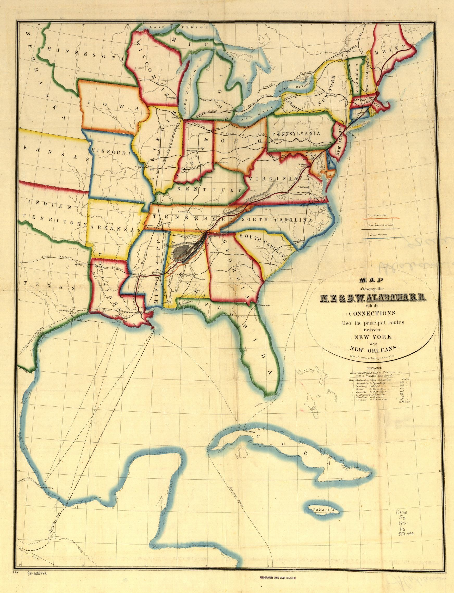 Railroad Maps 1828 To 1900 Railroads Library Of Congress