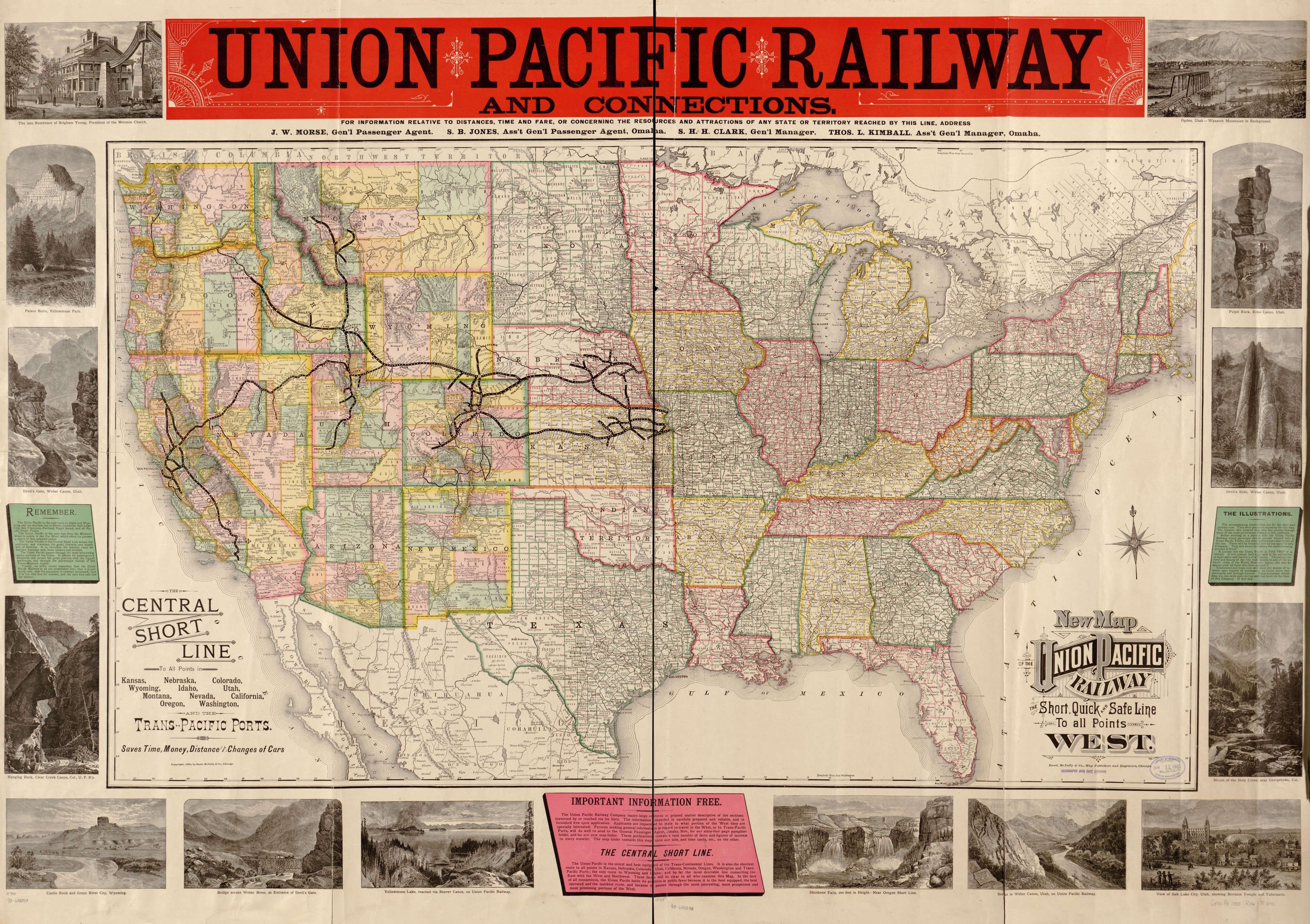 map of union pacific railroad New Map Of The Union Pacific Railway The Short Quick And Safe map of union pacific railroad