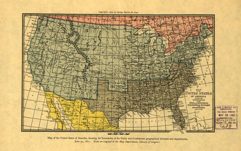 Geographical Map Of America.Map Of The United States Of America Showing The Boundaries