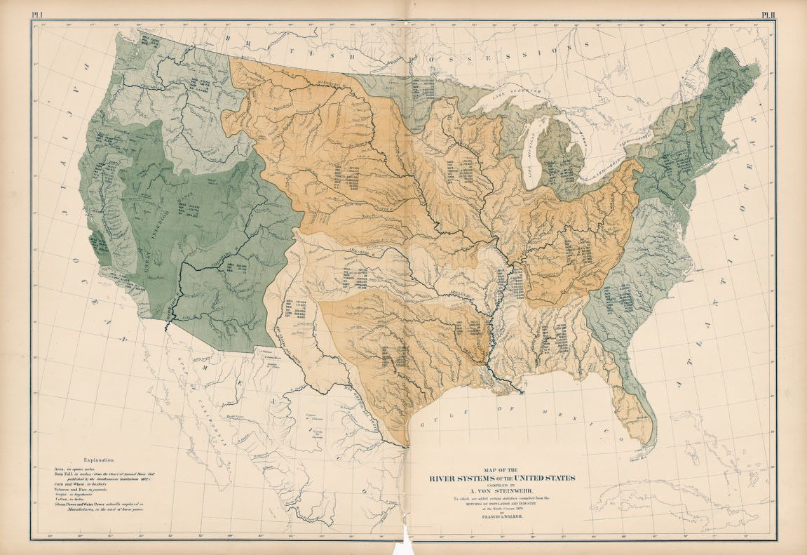 Map of the River Systems of the United States Library of Congress