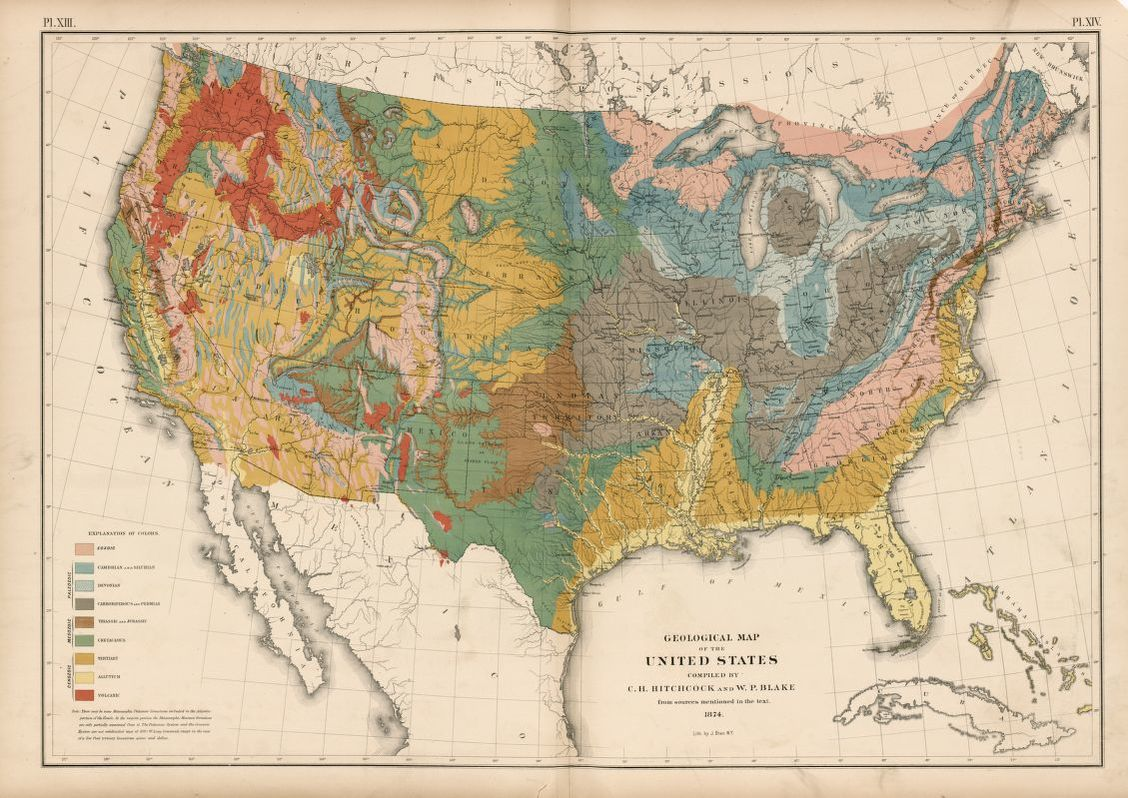 Picture of: Geological Map Of The United States Library Of Congress