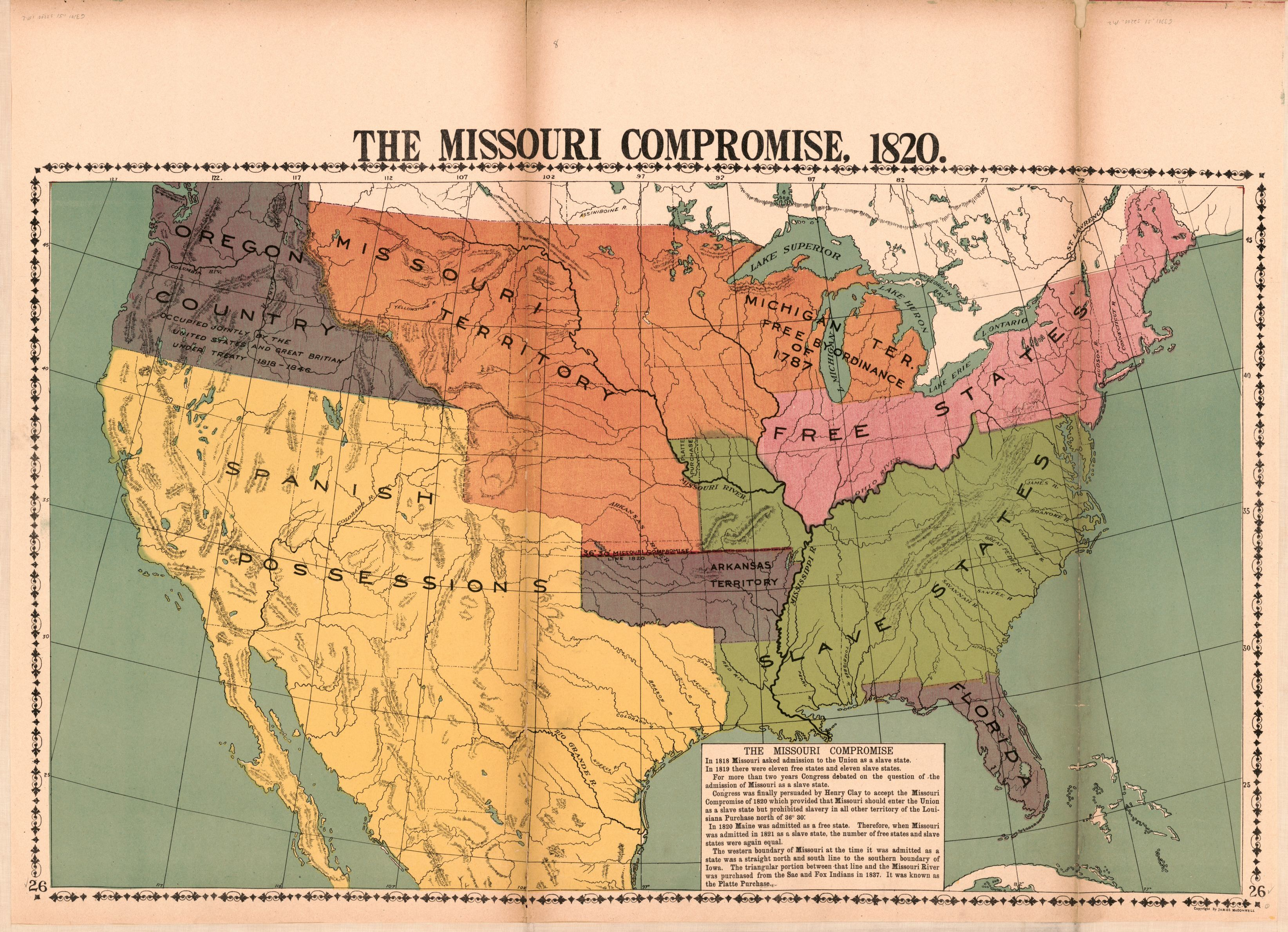 the missouri compromise 1820 library of congress