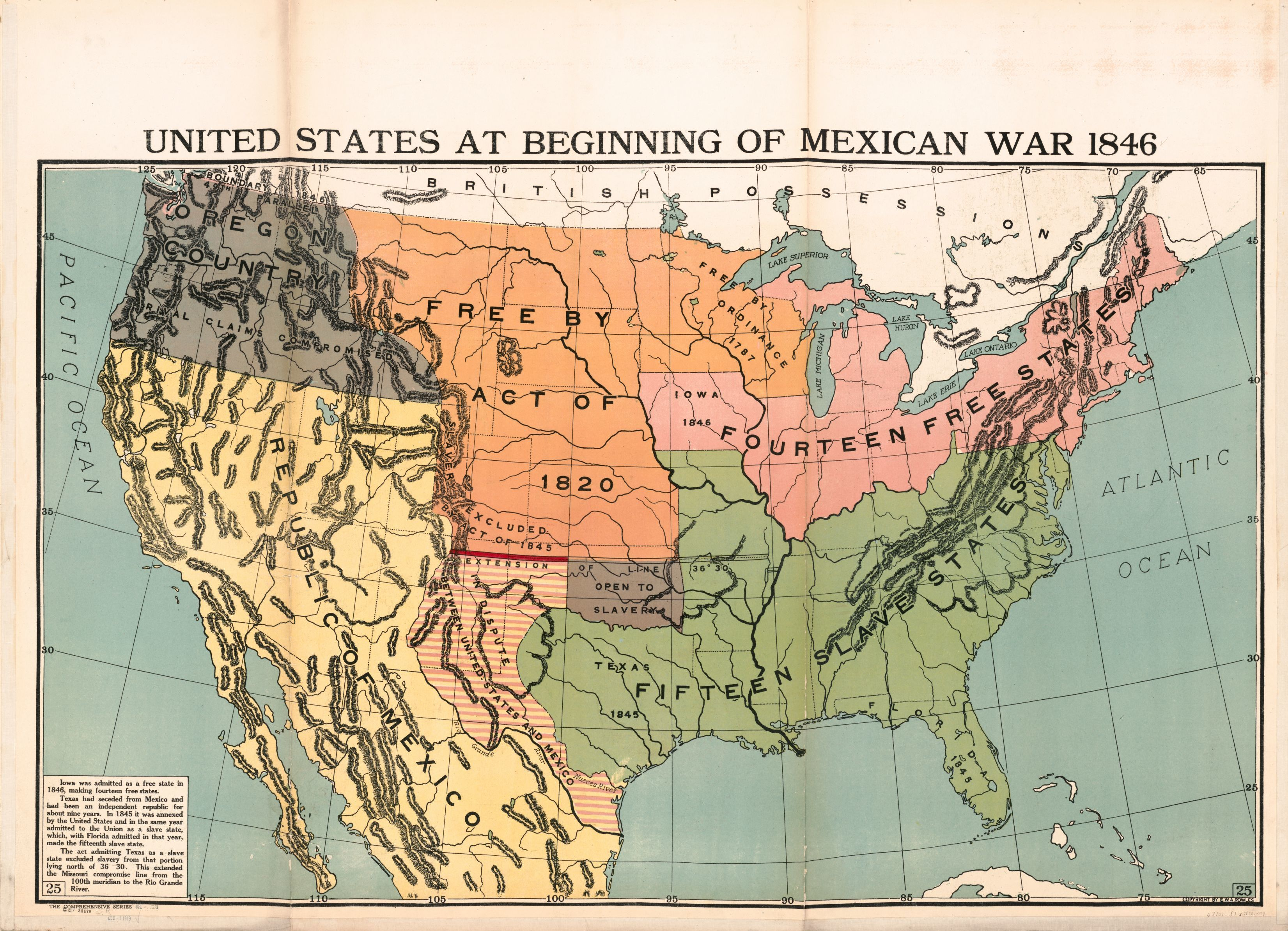Picture of: United States At Beginning Of Mexican War 1846 Library Of Congress