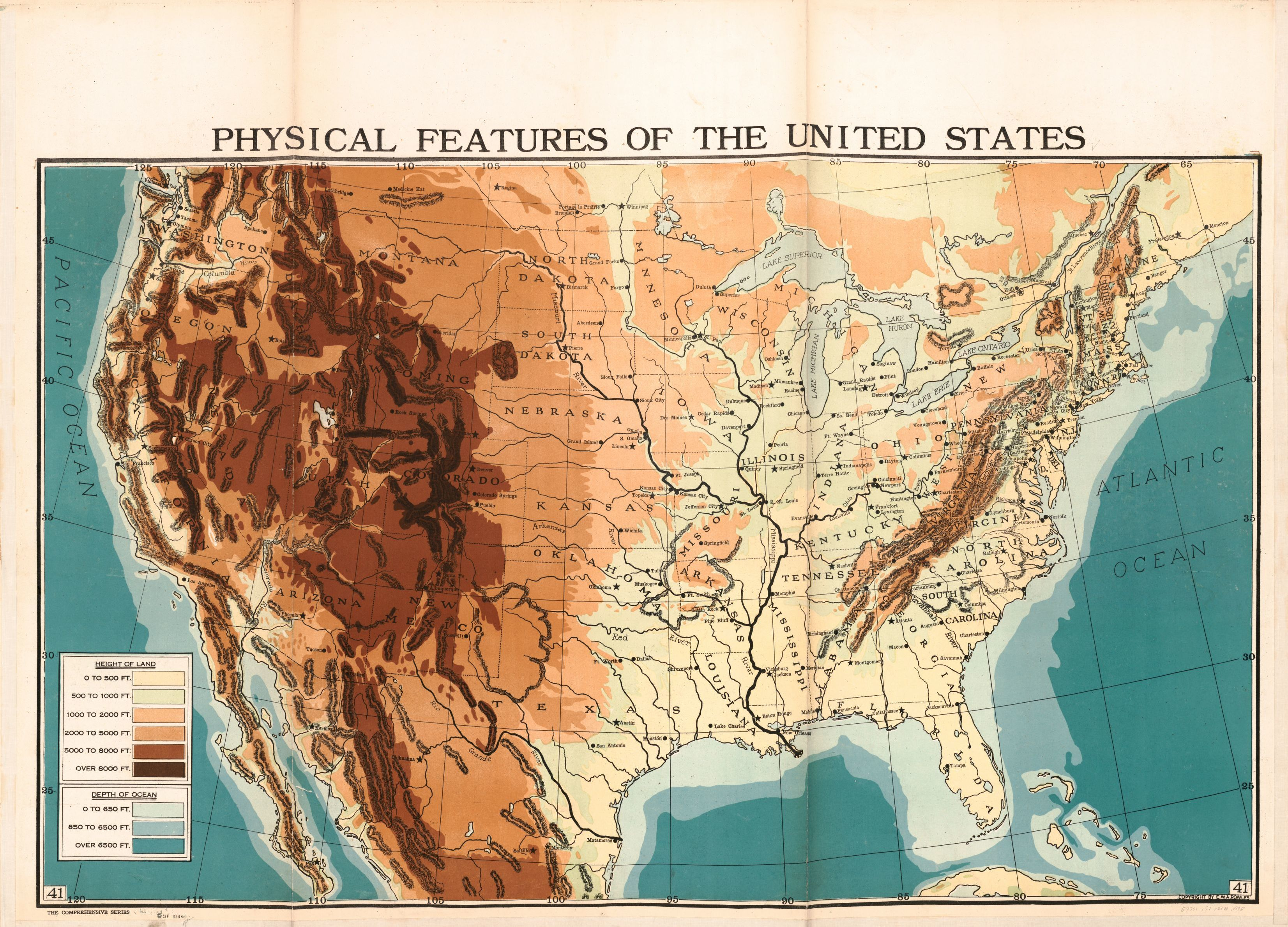 Image 41 of Full Set | Liry of Congress on physical features of the west virginia, physical features of the south africa, average temperature of the united states map, physical features of the globe, latitude of the united states map, physical features of the new york, physical features of the earth map, names of the united states map, physical features of the florida,