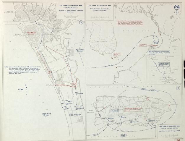 Spanish American War Philippines Map.Spanish American War Philippines Puerto Rico 1898 Library Of