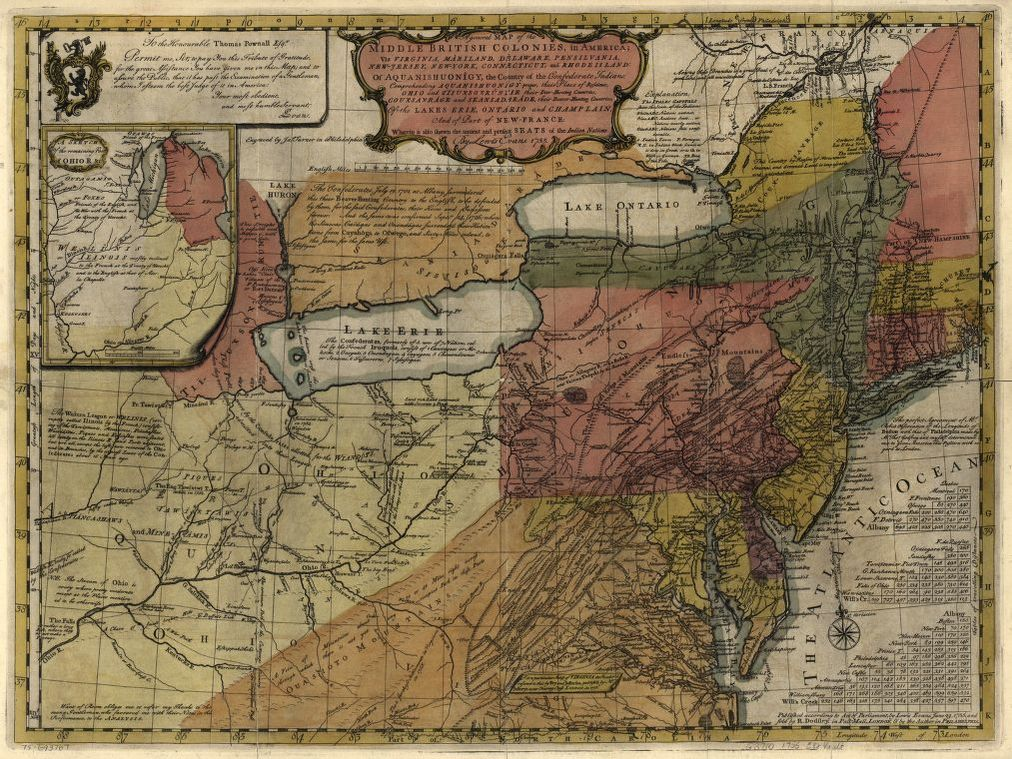 Map Of America Virginia.A General Map Of The Middle British Colonies In America Viz