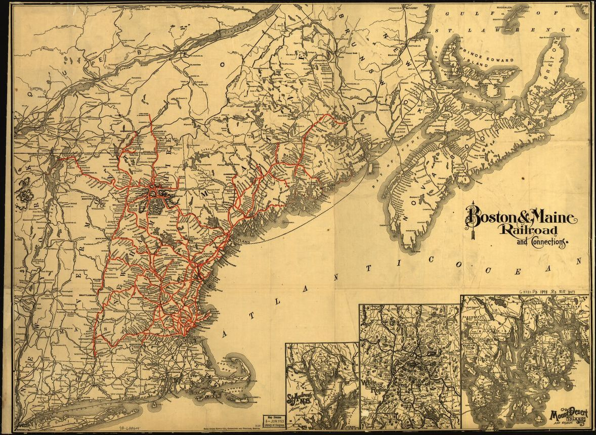Map 347.Boston Maine Railroad And Connections Library Of Congress