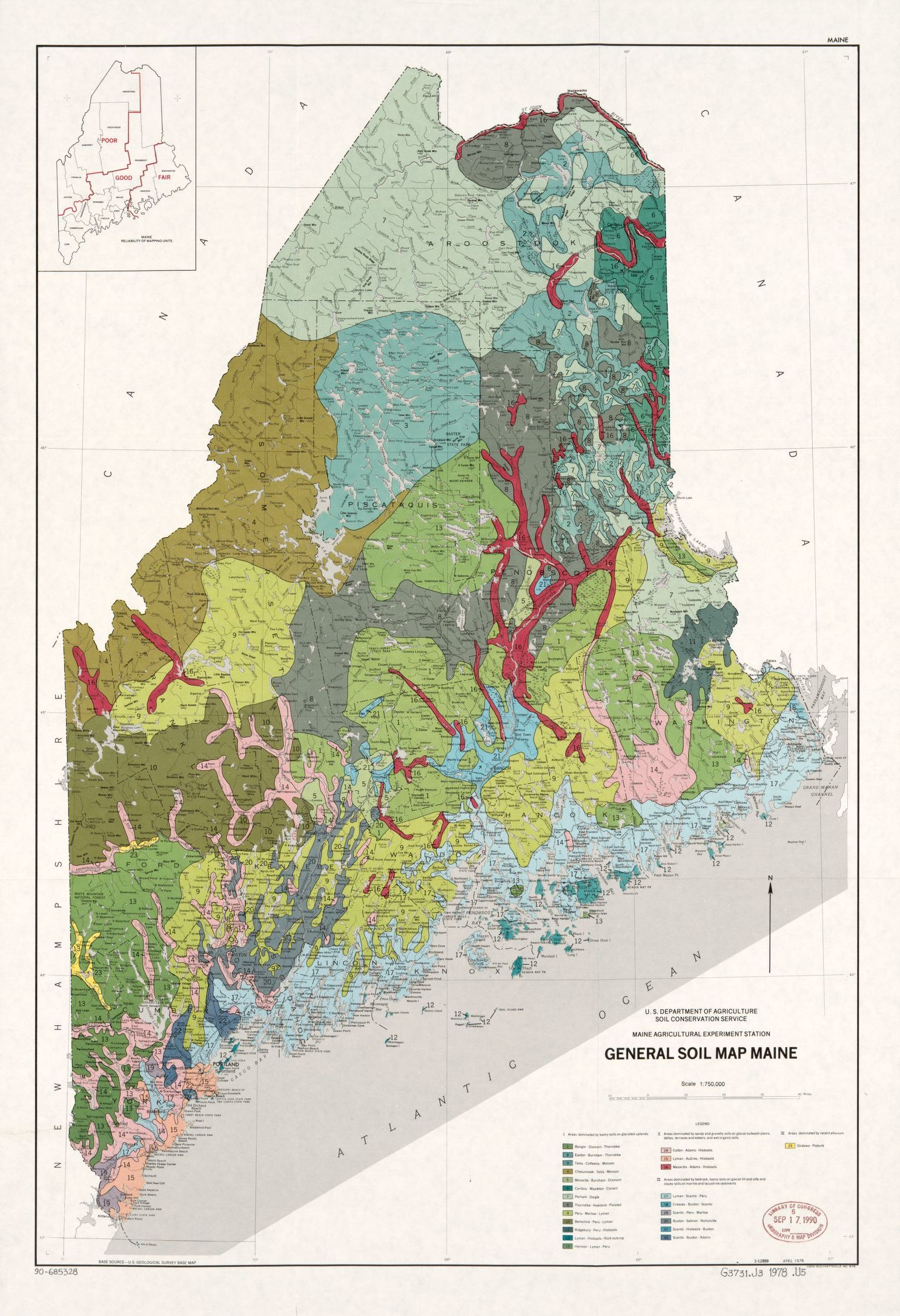General Soil Map Maine Library Of Congress