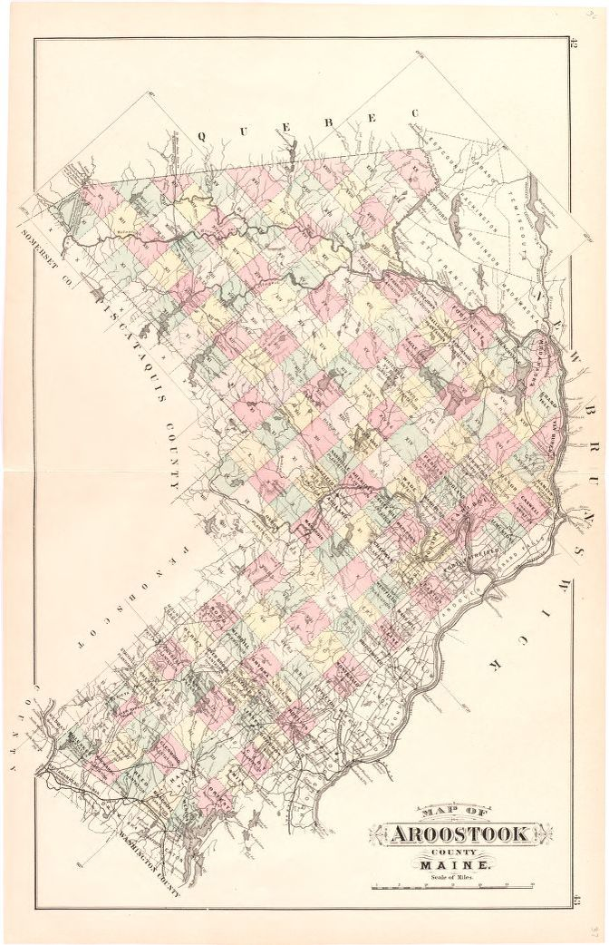 Map Of Aroostook County Maine Library Of Congress