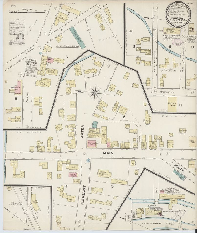 Map, Rockingham County, New Hampshire | Liry of Congress on