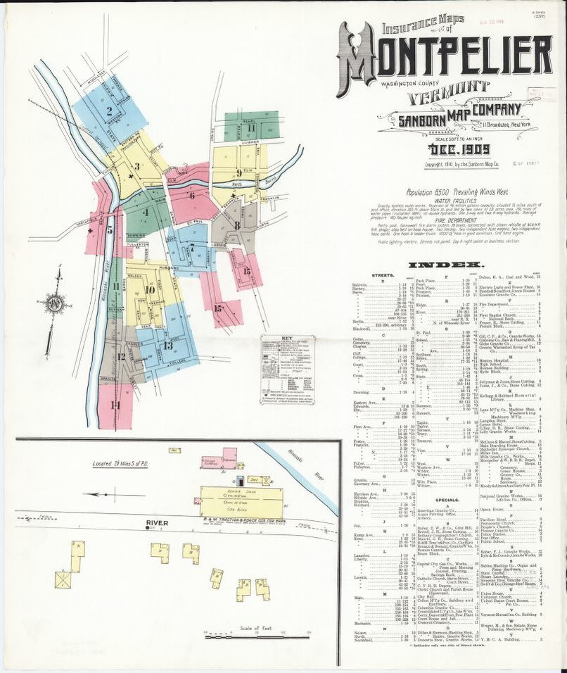 Sanborn Fire Insurance Map from Montpelier Washington County