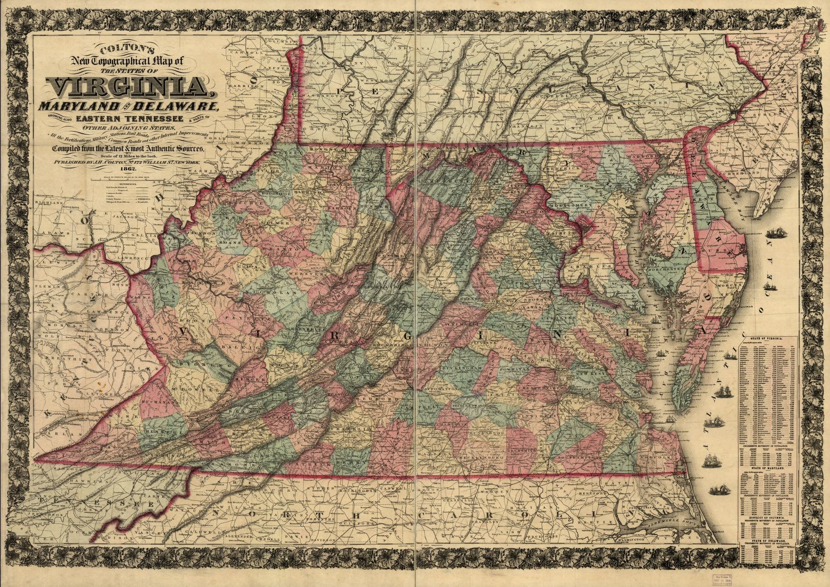 Map Middle Atlantic States Library