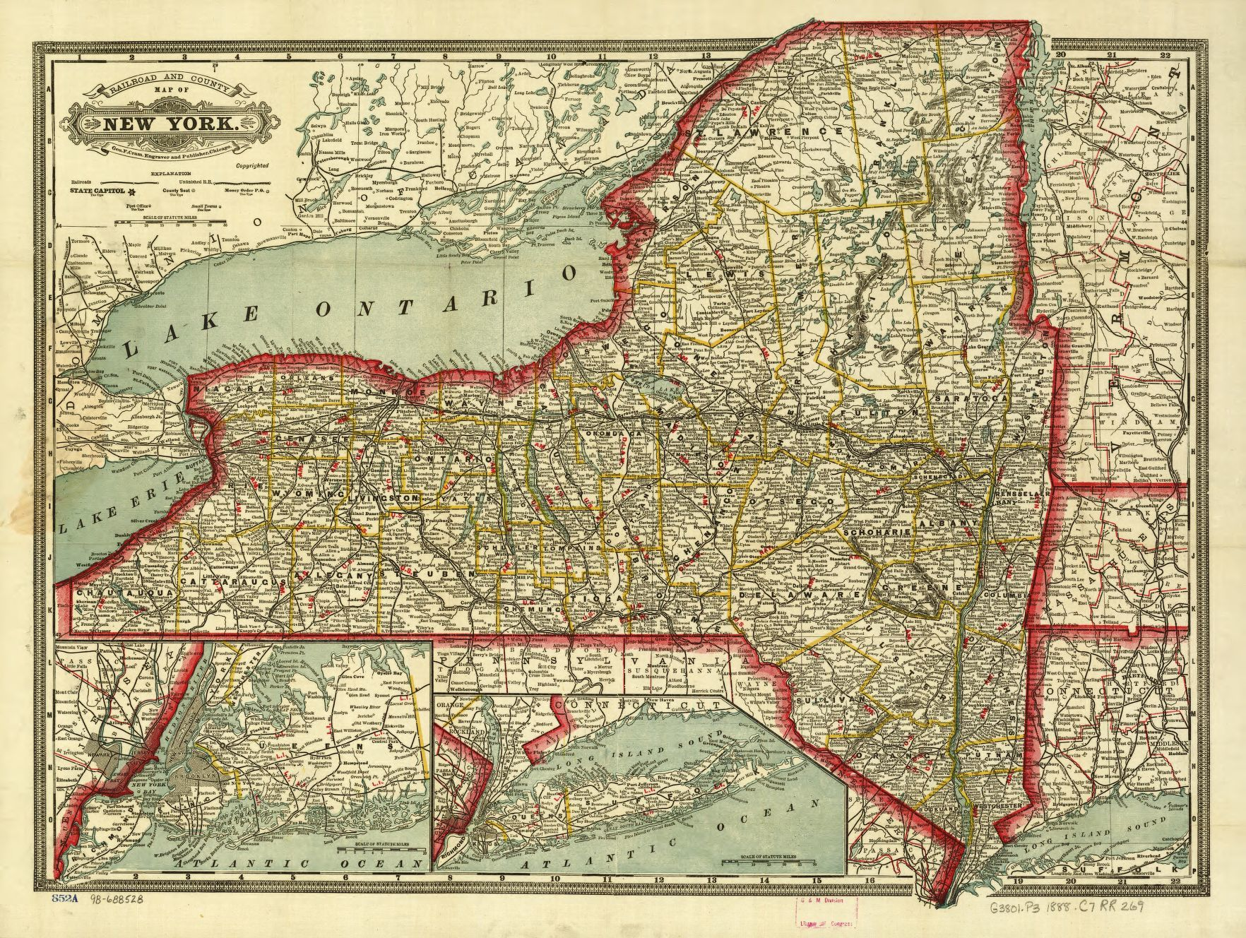 Railroad Maps 1828 To 1900 Available Online New York Library Of Congress