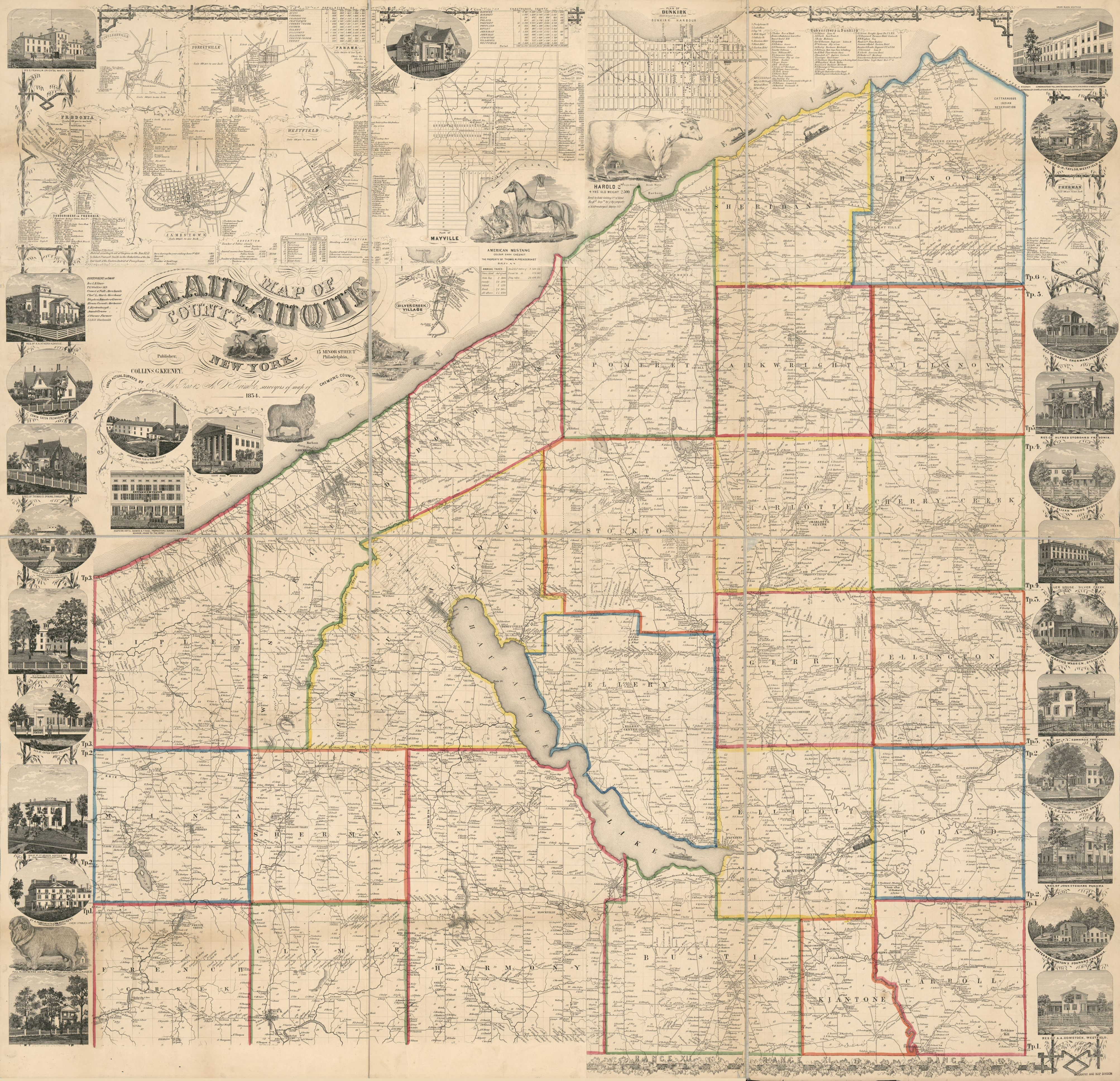 Map of Chautauque County, New York : from actual surveys ... Chautauqua County Gis Map on cattaraugus county gis, dutchess county gis, cayuga county gis, chenango county gis, steuben county gis, yates county gis,