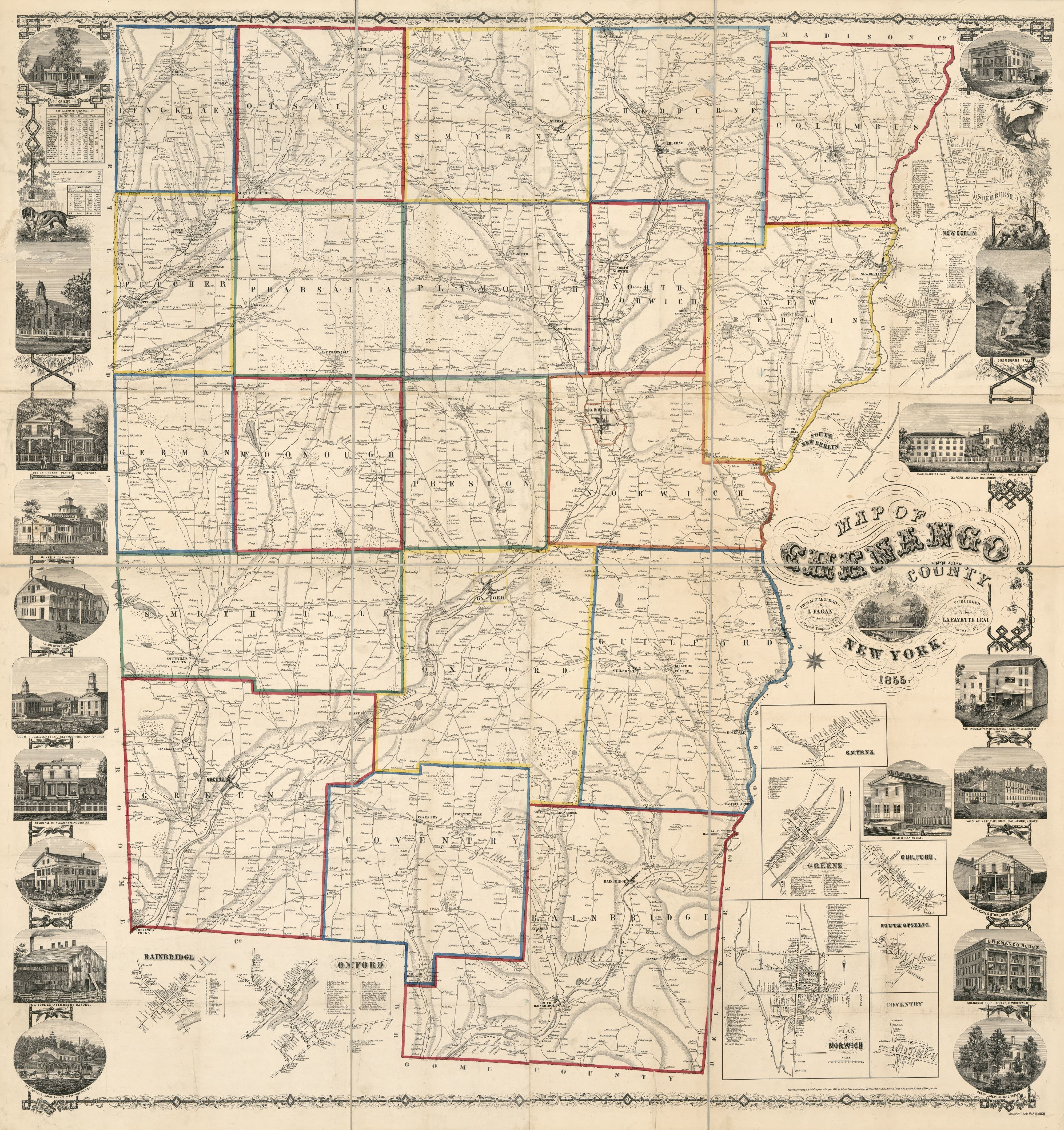 Chenango County Tax Maps Map of Chenango County, New York : from actual surveys | Library