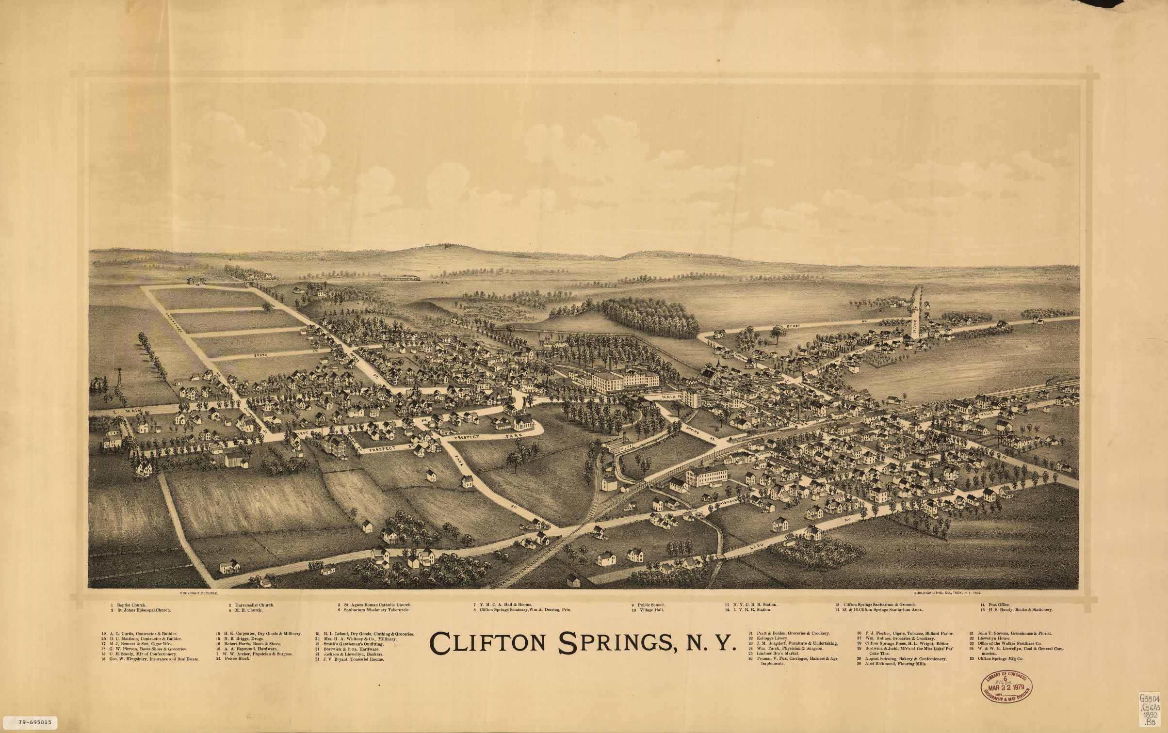 Map, New York, Cities and Towns | Library of Congress