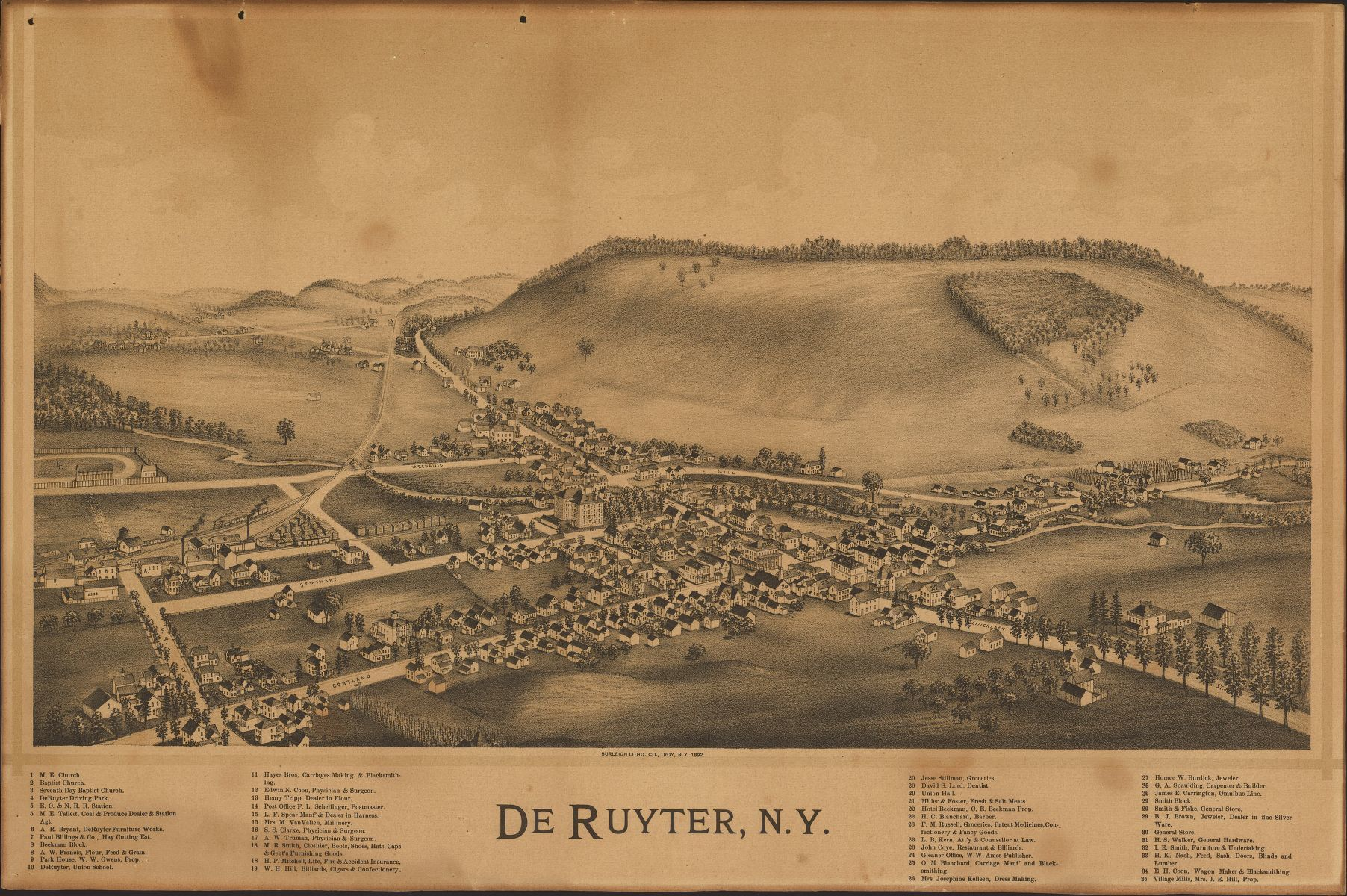 Panoramic Maps, New York (State) | Library of Congress
