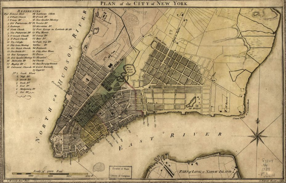 Plan Of The City Of New York Library Of Congress