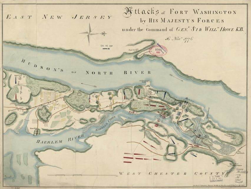 Fort Washington Map.Attacks Of Fort Washington By His Majesty S Forces Under The Command