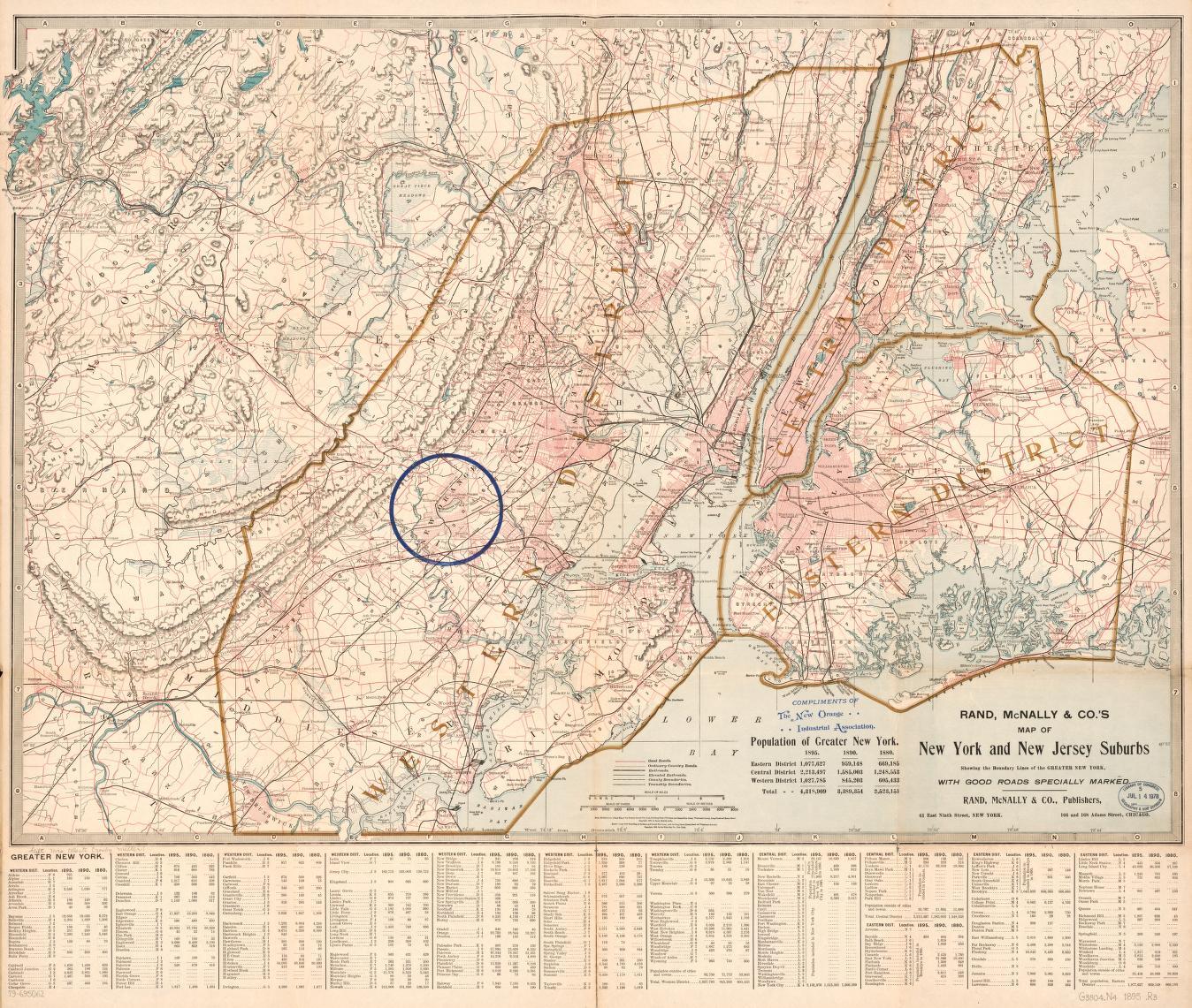 Map Of New York Suburbs.Rand Mcnally Co S Map Of New York And New Jersey Suburbs