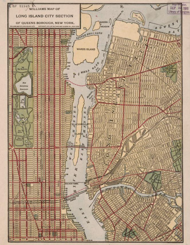 Williams Map Of Long Island City Section Of Queens Borough New York