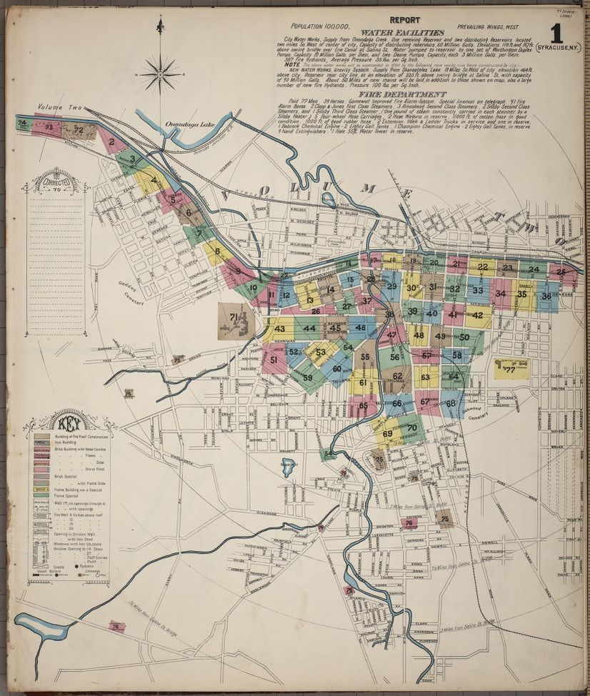 Map Of New York In 1800.Map 1800 To 1899 New York Syracuse Onondaga County Library Of