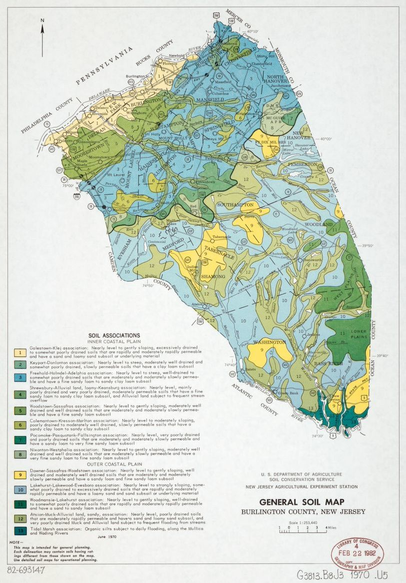 General soil map, Burlington County, New Jersey | Liry of ... on cape may county, bordentown nj map, bergen county, hudson county, wharton state forest nj map, cherry hill nj map, blue anchor nj map, mercer county nj map, camden county, somerset county, somerset park nj map, gloucester county, passaic county, historic smithville nj trail map, cumberland county, mercer county, mount laurel nj map, south jersey, bergen county nj map, warren county, morris county, salem county nj map, essex county, gloucester county nj map, vista center nj map, westampton nj map, lakehurst nj map, ocean county, middlesex county, union county, cumberland county nj map, hunterdon county, monmouth county nj map, stafford county nj map, atlantic county nj map, atlantic county, ocean county nj map, south bound brook nj map, monmouth county,