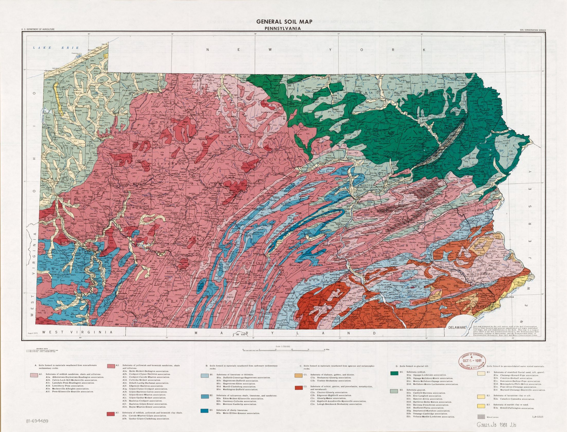 map  united states  soil conservation service