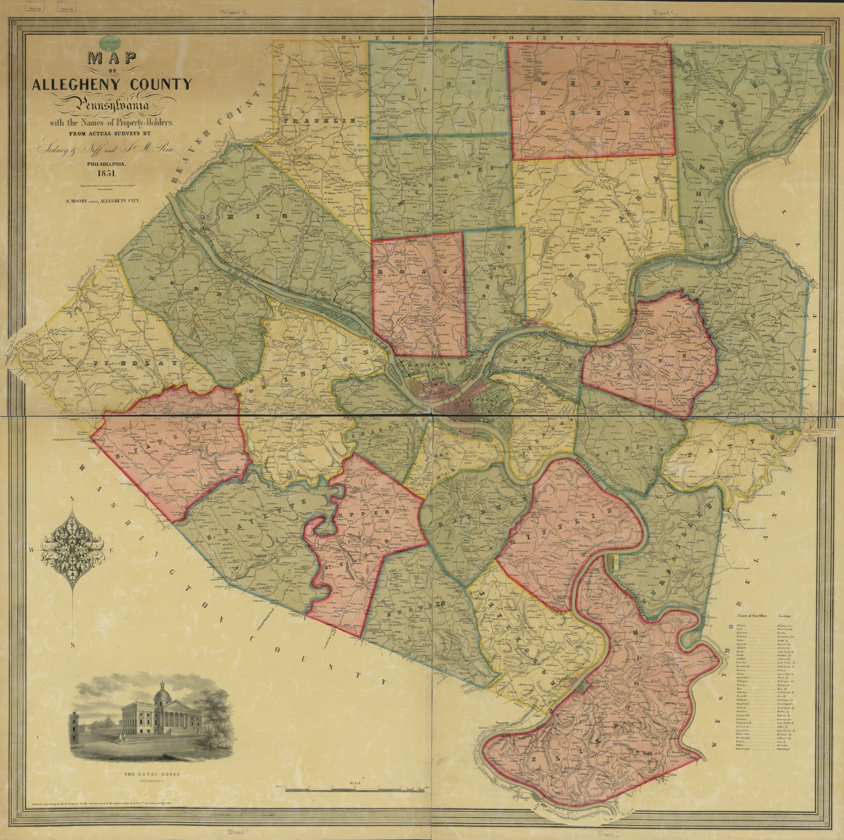 Allegheny County Map on