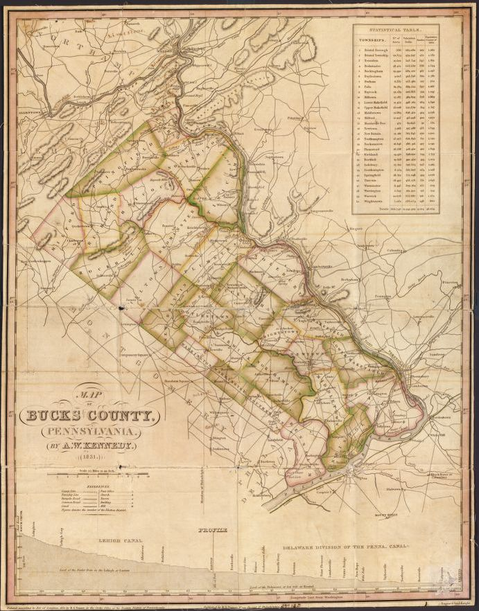 Map Of Bucks County  Pennsylvania