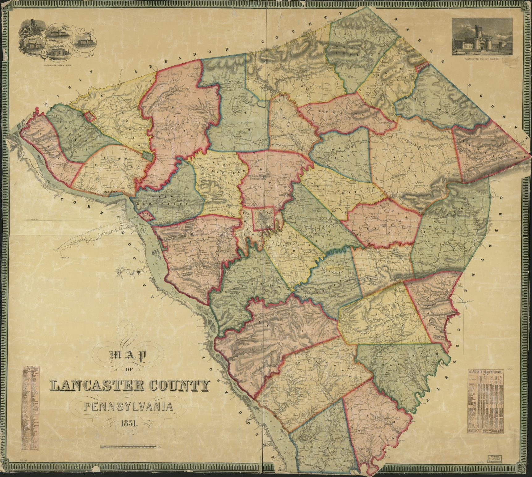 Map of Lancaster County, Pennsylvania. | Liry of Congress Lancaster County Pa Historical Map on ronks pa map, map lancaster pa attractions map, warwick pa map, lititz pa map, lancaster co map, pa school district map, lancaster county municipalities, streets of new holland pa map, lancaster ca zip code map, bucks county pa historical map, lancaster city street map,
