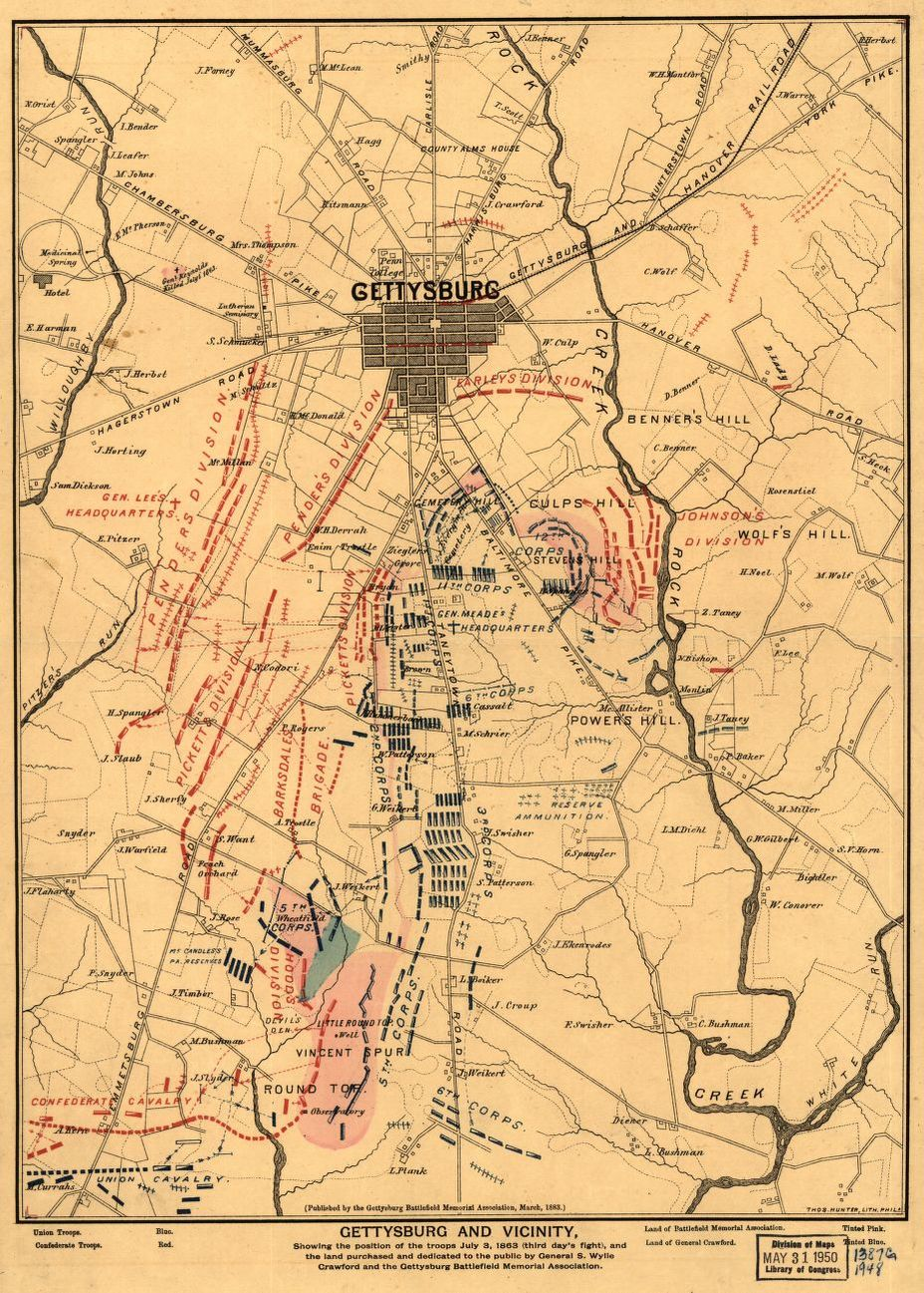 Image Result For Map Of Gettysburg