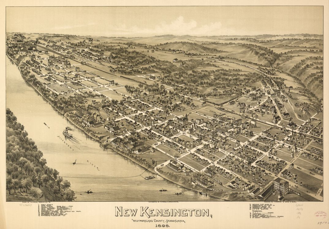 New Kensington, Westmoreland County, Pennsylvania, 1896