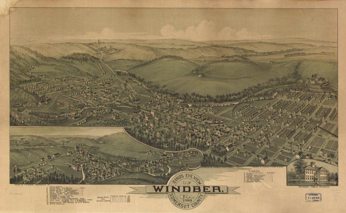 Bird's eye view of Windber, Pa  Somerset County 1900