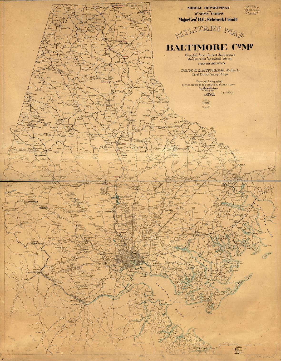 Military map, Baltimore Co., Md. | Library of Congress